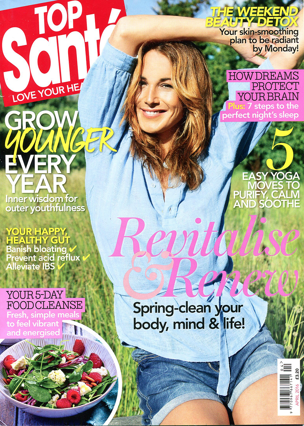 Top Sante Magazine cover featuring Surf Sistas retreats