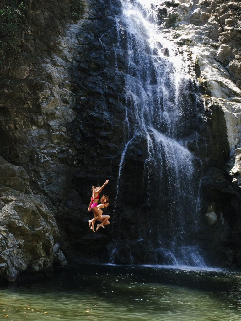 Waterfall jumping Costa Rica
