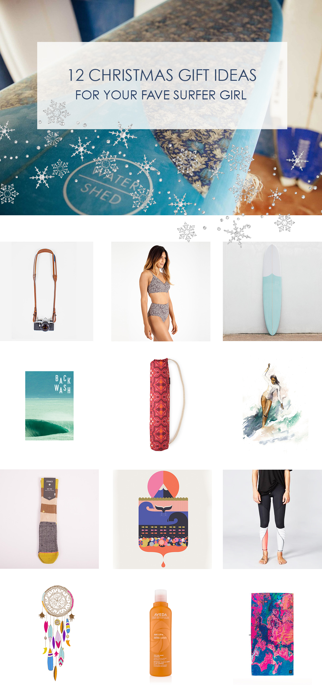 Christmas gift ideas for surfer girls
