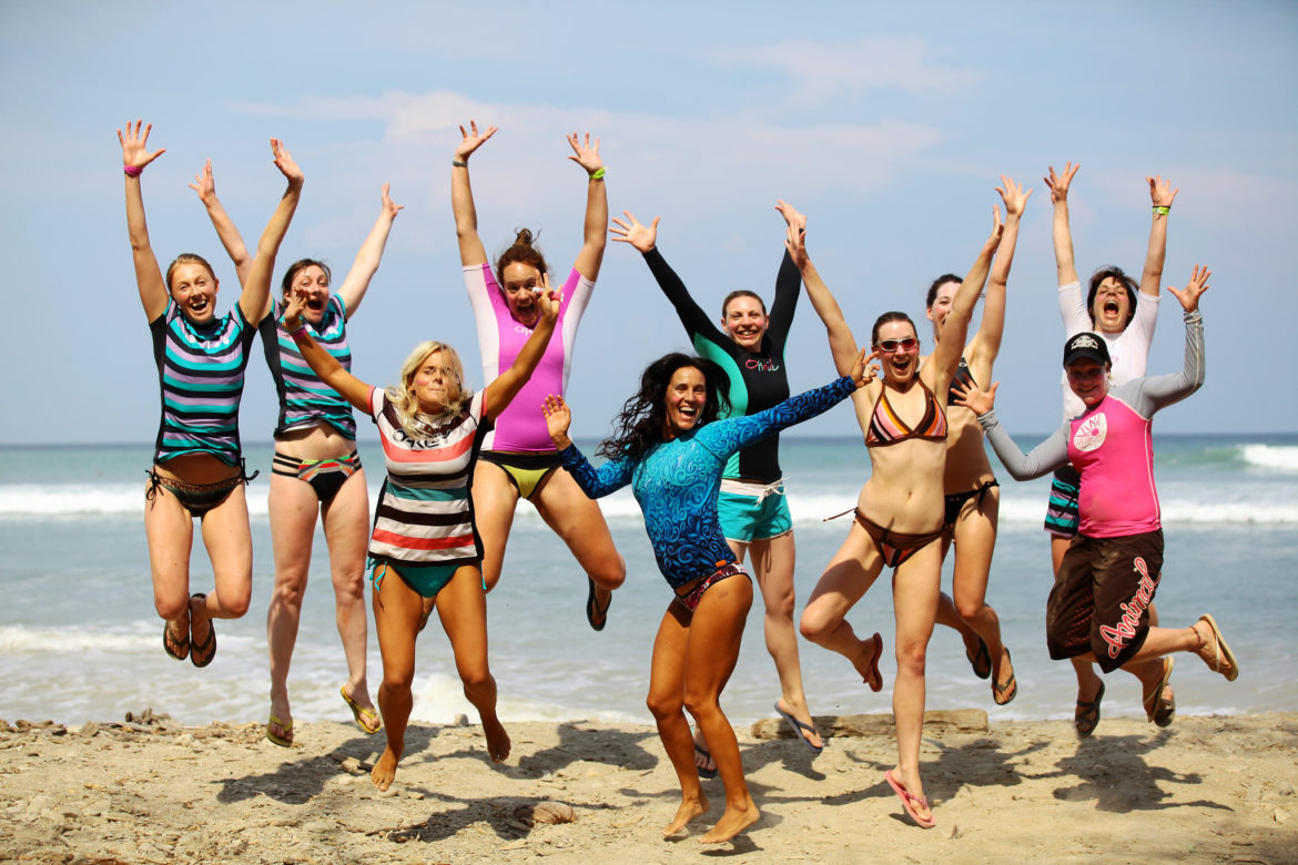 Womens group surf trip Costa Rica