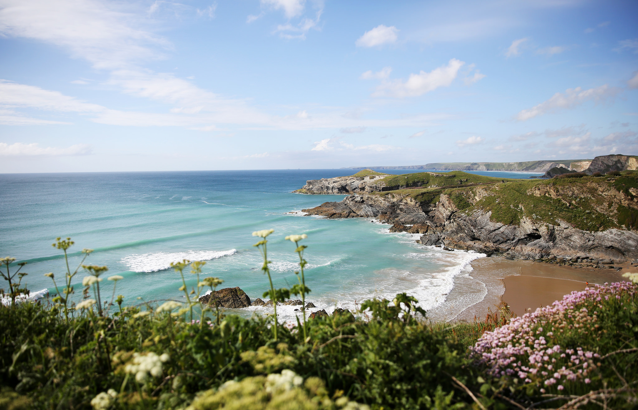 Cornish beach views