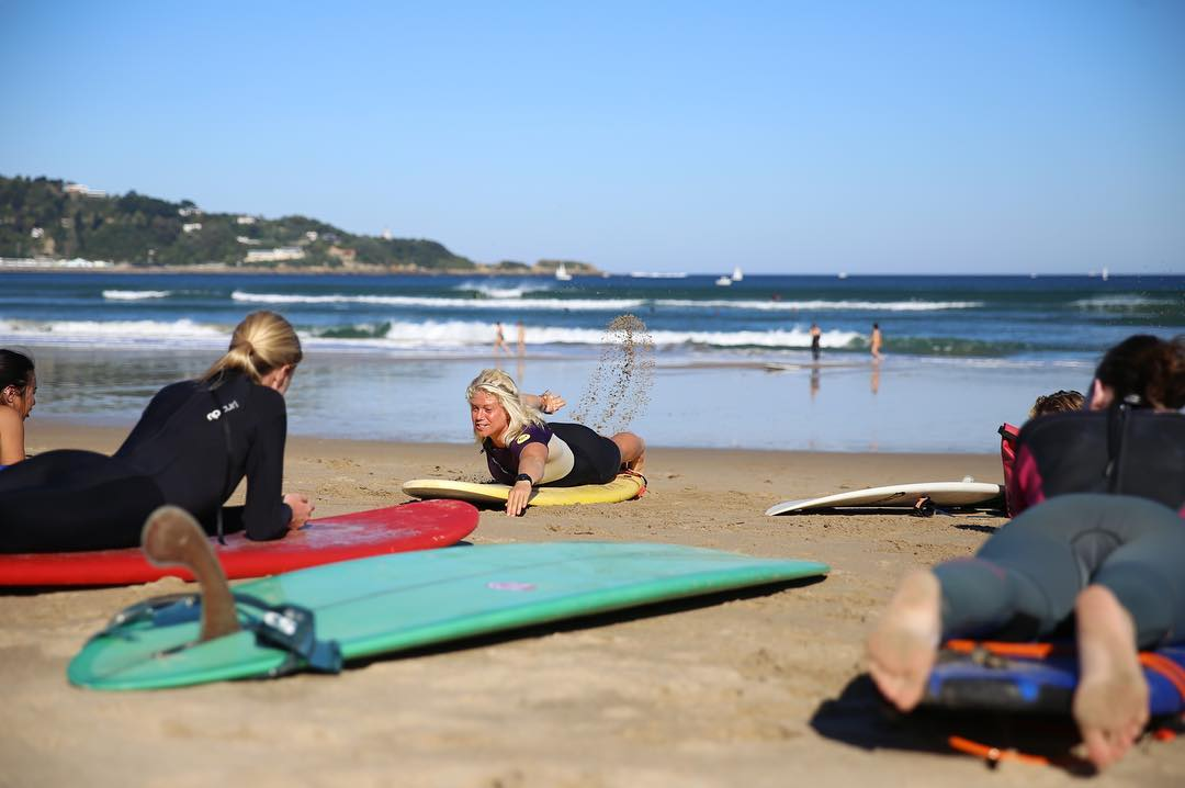 Surf coaching beach